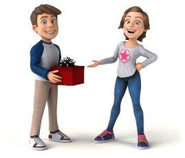 Fun 3D cartoon teenage kids