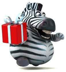 Fun zebra - 3D Illustration