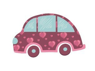 Machine with hearts. Cute element for valentine\'s day design.