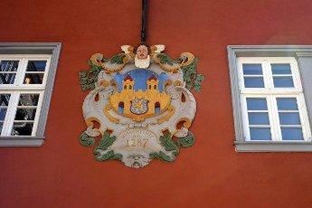 Wappen,  Rathaus,  Jahr 1698,  Altstadt,  Idstein