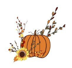 AUTUMN PUMPKIN. SYMBOL OF HARVEST AND WELL-BEING. HALLOWEEN. Thanksgiving Day Sticker