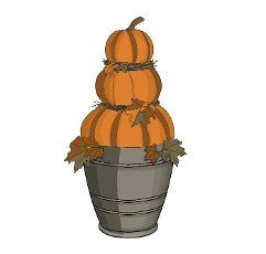 Composition for Halloween. Pumpkins. Vector illustration isolated on white background.