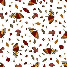 autumn pattern. Umbrella and falling leaves. Autumn leaves. Children\'s print for textiles and clothing. Product design.