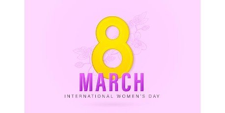 8 March International women\'s day with isolated purple backgrounds. applicable for poster,  banner and anything