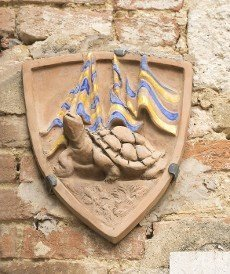 "Billboard Sienese contrada ""Turtle"". Siena. Italy"