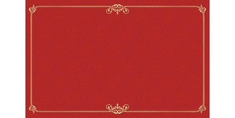 Red background with golden frame,  Rectangle ornament corner gold frame and border with Chinese seamless pattern textured for greeting cards,  certificate,  backdrop,  banner,  poster,  and banners.