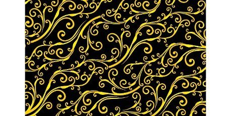 Floral seamless pattern yellowed colors with isolated black backgrounds,  black and yellow patterns background. applicable for banners,  fabric print,  textile,  agency,  and printing paper for business.