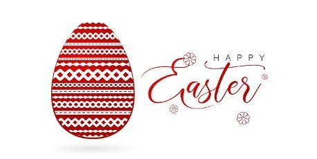 Happy Easter red Easter egg,  Easter egg with paper cut. isolated white backgrounds,  applicable for greeting cards,  and banner social media