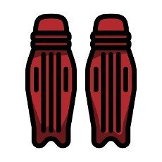 Cricket Leg Protection Icon. Editable Bold Outline With Color Fill Design. Vector Illustration.