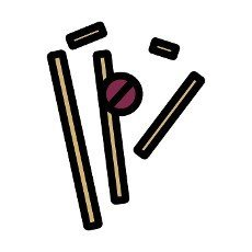 Cricket Wicket Icon. Editable Bold Outline With Color Fill Design. Vector Illustration.