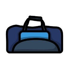 Cricket Bag Icon. Editable Bold Outline With Color Fill Design. Vector Illustration.