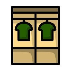 Locker Room Icon. Editable Bold Outline With Color Fill Design. Vector Illustration.