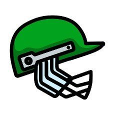 Cricket Helmet Icon. Editable Bold Outline With Color Fill Design. Vector Illustration.