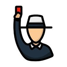 Cricket Umpire With Hand Holding Card Icon. Editable Bold Outline With Color Fill Design. Vector Illustration.