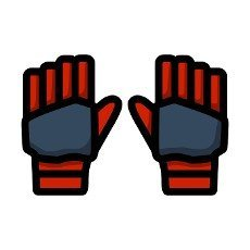 Pair Of Cricket Gloves Icon. Editable Bold Outline With Color Fill Design. Vector Illustration.