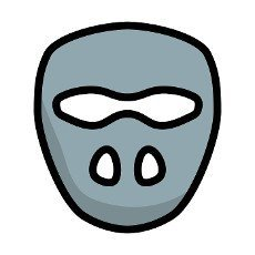 Cricket Mask Icon. Editable Bold Outline With Color Fill Design. Vector Illustration.