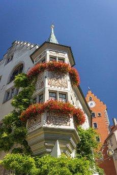 Meersburg,  Germany,  September 2016 - Historic building in the city of Meersburg,  Germany