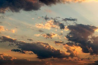 scenic cloud formation at sunset