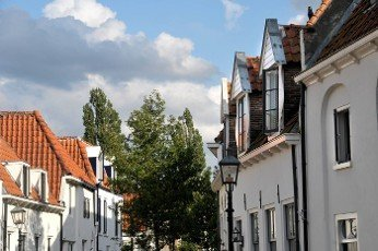 houses in the old town of Harderwijk in the Netherlands