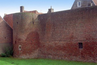 old city wall of Elburg in the Netherlands