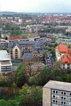 view of the City of Hannover with the police headquarters