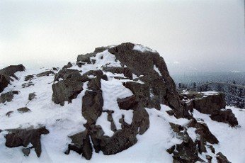the mountain Harz in Lower Saxony in the winter