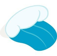 Ocean or sea wave icon in isometric 3d style on a white background