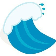 Ocean wave icon in isometric 3d style on a white background