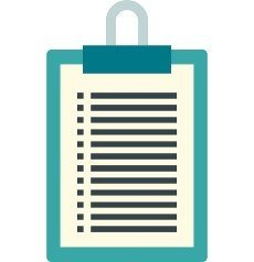Document plan icon in flat style isolated on white background. Certificate symbol