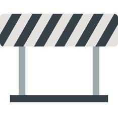 Traffic prohibition sign icon in flat style isolated on white background. Warning symbol