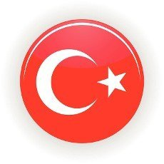 Turkey icon circle isolated on white background. Ankara icon vector illustration