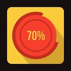 Web preloader icon in flat style on a yellow background