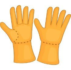 Rubber gloves icon in cartoon style isolated on white background. Protection for hands symbol