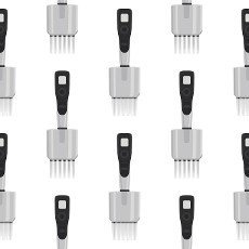 Abstract seamless medical pipette,  dropper for laboratory on white background. Pattern dropper consisting of many identical glass laboratory medical pipette. Medical pipette it dropper from laboratory