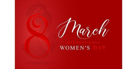 8 March International women\'s day or happy women\'s day with red number letter and isolated red backgrounds. applicable for poster,  banner and anything