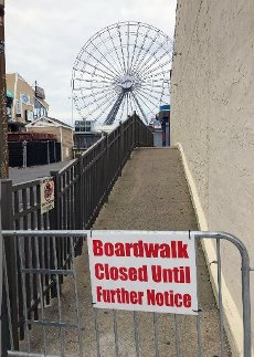 Seaside Heights, NJ closed due to CoronaVirus 4/5/2020, Photo By John Barrett/