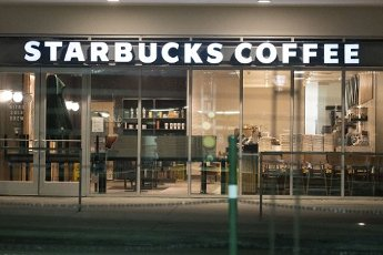 March 31, 2020 - Houston, Texas USA: Houston After Dark - An empty Starbucks coffee shops in the Texas Medical Center during the outbreak of Covid-19, March 31, 2020 (F. Carter Smith/Polaris)