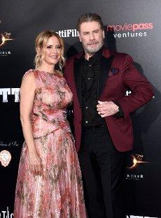 "June 14, 2018 - New York, New York, United States: Kelly Preston & John Travolta attend the New York premiere of \'Gotti"", held at the SVA Theater. (PIP\/Polaris"
