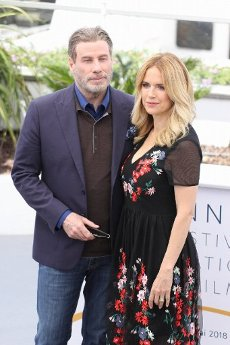 May 15, 2018 - Cannes, France. John Travolta, Kelly Preston. John Travolta and the director of movie Gotti attends the photocall for the Rendezvous with John Travolta. At the Palais des Festivals during the 71st annual Cannes Film Festival. (Piero Oliosi\/Polaris