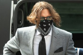 American Actor Johnny Depp arrives on the fifth day of a court hearing on a libel case against The Sun newspaper - Royal Courts Of Justice, London, England, UK on Monday 13 July, 2020. Picture by Justin Ng\/UPPA\/Avalon