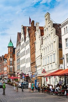 Hanseatic houses, Lubeck, UNESCO World Heritage Site, Schleswig-Holstein, Germany, Europe