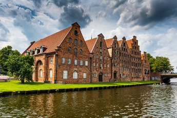 Old Hanse houses in Lubeck, UNESCO World Heritage Site, Schleswig-Holstein, Germany, Europe