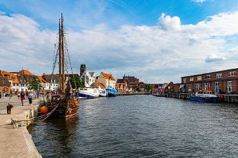 Harbour of the Hanseatic city of Wismar, UNESCO World Heritage Site, Mecklenburg-Vorpommern, Germany, Europe