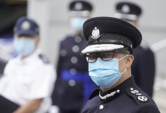 The Commissioner of Police Chris Tang Ping-keung meets the media after a passing-out parade at the Hong Kong Police College in Wong Chuk Hang. 21NOV20 SCMP\/ Winson