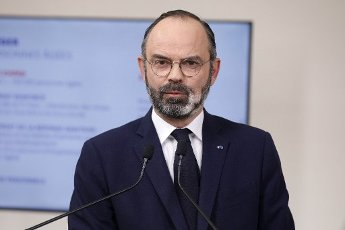French Prime Minister Edouard Philippe speaks during a press conference in Paris, on March 28, 2020, on the eleventh day of a strict nationwide confinement in France seeking to halt the spread of the COVID-19 infection caused by the novel coronavirus. - The death toll from the coronavirus epidemic in Europe surged past 20,000 on March 28, 2020, even as the Chinese city where the outbreak began cautiously returned to life. Europe and the United States are facing a staggering increase in new cases of COVID-19 -- despite perhaps a third of humanity now living under lockdown.//04SIPA_1120.5850/2003282031/Credit:VAN DER HASSELT/POOL/SIPA/