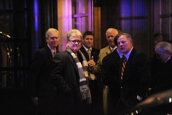 """March 28, 2020 - Tom Coburn, a former US congressman from Oklahoma and obstetrician, died at his home Saturday, according to a statement from his family. He was 72. Coburn, a Republican dubbed """"Dr. No"""" by his Democratic colleagues, was a staunch fiscal and social conservative who battled lawmakers over money for pet projects in their home states and fought for anti-abortion legislation throughout his career. He served in the US Senate from 2005-2015, after having been a member of the US House of Representatives from 1995-2001. File Photo: Republican Senators including Ron Johnson (R-WI) , Tom Coburn (R-OK), Richard Burr (R-NC) and Saxby Chambliss(R-Georgia) leave the Jefferson Hotel after a dinner with President Barack Obama March 6, 2013 in Washington, DC. .Credit: Olivier Douliery / Pool via CNP/AdMedia//Z-ADMEDIA_adm_TomCoburn_1948-2020_CNP_013/2003282047/Credit:SIPA/"""