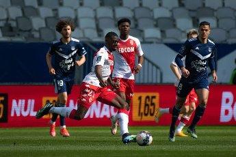 Youssouf Fofana AS Monaco Match Ligue 1 Uber Eats Girondins de Bordeaux vs AS Monaco Stade Matmut Atlantique Bordeaux 18 avril 2021\/\/VAQUERODANIEL_1911.16004\/2104191250\/Credit:Daniel Vaquero\/SIPA