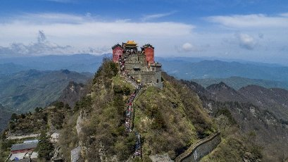 """From April 14th to 15th, 2021, during the third month of the lunar calendar, Wudang Mountain is picturesque. Wudang Mountain, the holy land of Taoism in China, is located in Shiyan City, northwest of Hubei Province. Wudang Mountain is the birthplace of Taoist mountains and Wudang martial arts. It is called """"unparalleled beauty in ancient times, and the world\'s first fairy mountain"""". In December 1994, the ancient buildings of Wudang Mountain were selected into the """"World Heritage List"""" and in 2006 were listed as a """"National Key Cultural Relics Protection Unit"""" as a whole. In 2007, Wudang Mountain was selected as one of the """"Top Ten Most Favorite Scenic Spots in China by Europeans"""". From 2010 to 2013, Wudang Mountain was rated as a national AAAAA-level tourist scenic spot, a national forest park, China\'s top ten summer resorts, and a cross-strait exchange base, and was selected as the most beautiful """"national geopark"""".\/\/SIPAASIA_34060067\/2104191229\/Credit:Peng Huan\/Sipa Asia\/SIPA \/SIPA"""