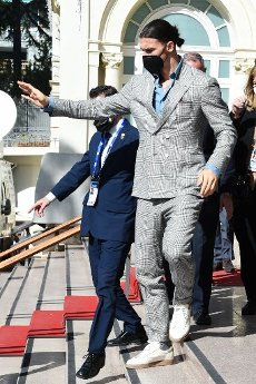 Zlatan Ibrahimovic 71st edition of Sanremo Italian Song Festival Zlatan Ibrahimoc arrives at the press conference Sanremo, Italy 2nd March 2021 (Photo by SGP\/Sipa USA)Italia id 125701_004 Not
