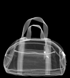 Small sports holdall, X-ray